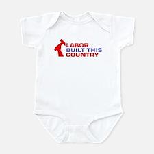 labor built union Infant Bodysuit