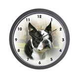 Boston terrier Wall Clocks