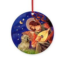 Mandolin Angel & Norfolk Terrier Ornament (Round)