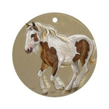 Gypsy Vanner Filly keepsake Ornament (Round)