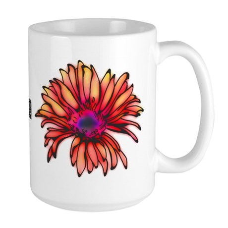 Glowing Daisy Large Mug