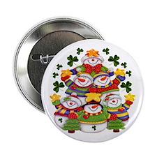Shamrocks & Snowmen Buttons (10 pack)