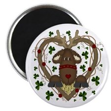 Christmas Reindeer Wreath Magnets (10 pack)