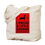 I Know a Little German! Dachshund Tote Bag