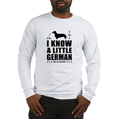 Little German! Dachshund 2-sided Long Sleeve T