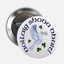 Gaelic Greetings Peace Dove Buttons (10 pack)