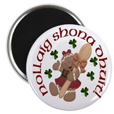 Gaelic Gingerbread Girl Magnets (10 pack)