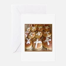 Hot Cross Buns Greeting Cards (Pk of 10)