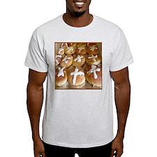 Hot Cross Buns Ash Grey T-Shirt
