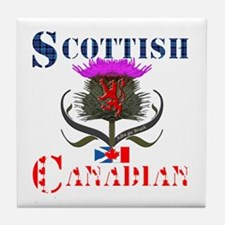 Scottish Canadian Thistle Tile Coaster