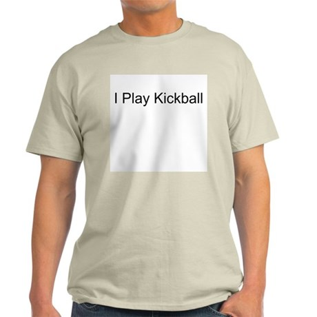 I Play Kickball Ash Grey T-Shirt