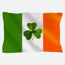 Irish Shamrock Flag Pillow Case