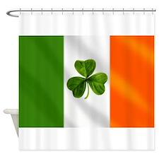 Irish Shamrock Flag Shower Curtain