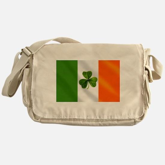 Irish Shamrock Flag Messenger Bag
