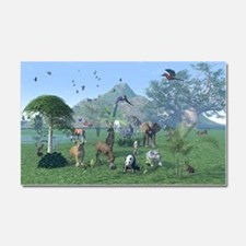 An exotic wild animal scene Car Magnet 20 x 12