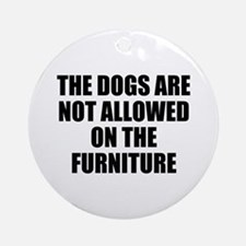 Dog Rules Ornament (Round)