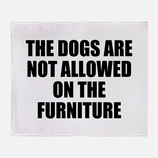 Dog Rules Throw Blanket