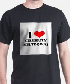 Celebrity Meltdowns Black T-Shirt