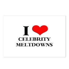 Celebrity Meltdowns Postcards (Package of 8)