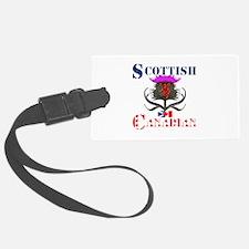 Scottish Canadian Thistle Luggage Tag