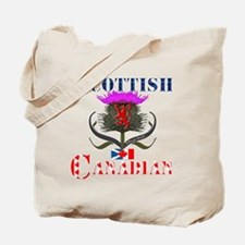 Scottish Canadian Thistle Tote Bag