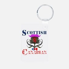 Scottish Canadian Thistle Aluminum Photo Keychain