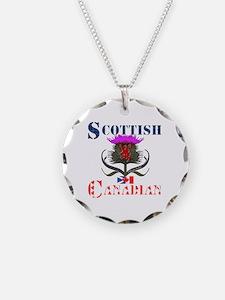 Scottish Canadian Thistle Necklace