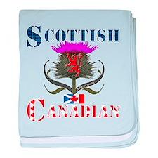 Scottish Canadian Thistle baby blanket