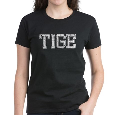 TIGE, Vintage Women's Dark T-Shirt