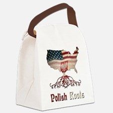 American Polish Roots Canvas Lunch Bag