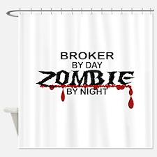 Broker Zombie Shower Curtain