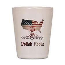 American Polish Roots Shot Glass