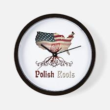 American Polish Roots Wall Clock