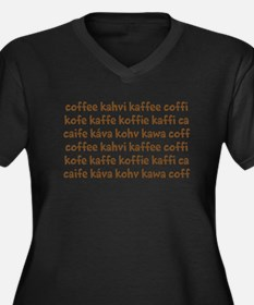 coffee in different languages Women's Plus Size V-