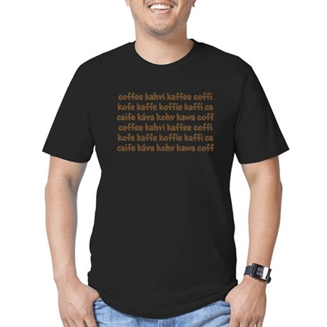 coffee in different languages Men's Fitted T-Shirt