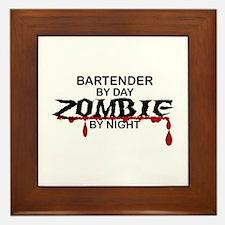Bartender Zombie Framed Tile