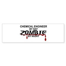 Chemical Eng Zombie Bumper Sticker