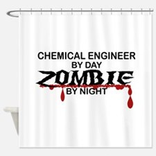 Chemical Eng Zombie Shower Curtain