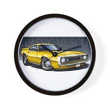 67 Yellow Camaro Wall Clock