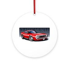 67 Red Camaro Ornament (Round)