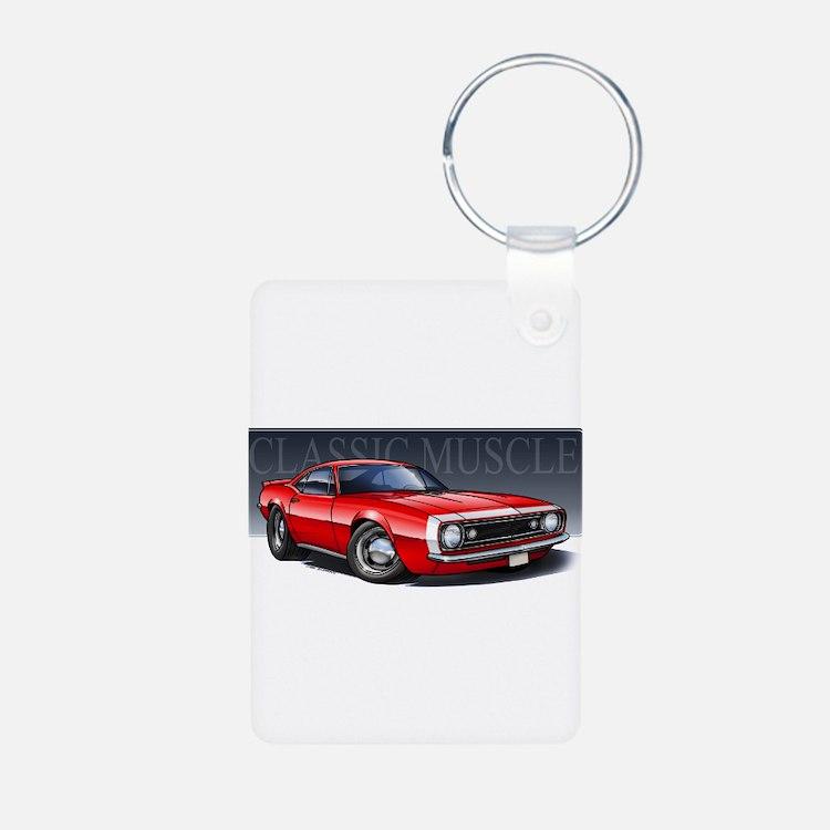 67 Red Camaro Keychains