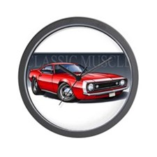 67 Red Camaro Wall Clock