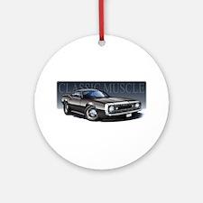 67 Black Camaro W Ornament (Round)
