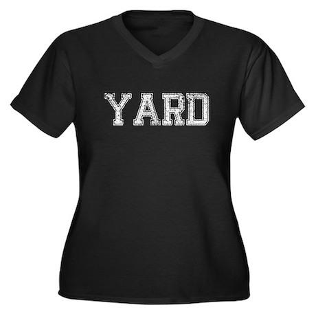 YARD, Vintage Women's Plus Size V-Neck Dark T-Shir