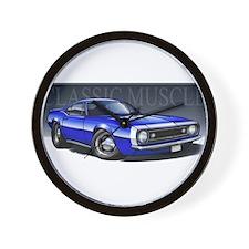 67 Blue W Wall Clock