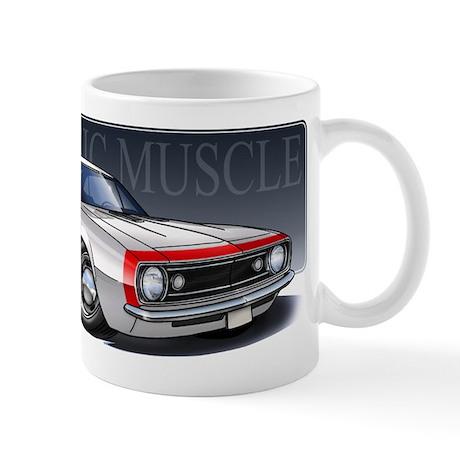 67 White R Mug