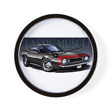 67 Black Camaro R Wall Clock