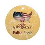 Polish american Round Ornaments