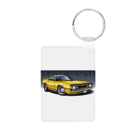 67 Yellow B Aluminum Photo Keychain