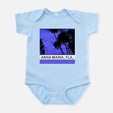 Purple palm trees Infant Bodysuit
